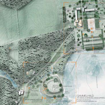 Situationsplan 1/2. Illustration af Møller & Grønborg