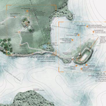 Situationsplan 2/2. Illustration af Møller & Grønborg